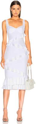 Cushnie Jezbel Dress in White   FWRD