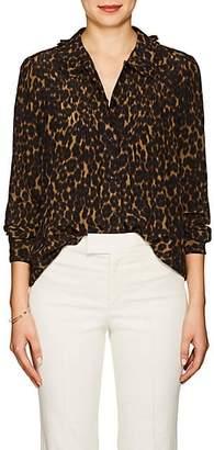 Masscob Women's Jaden Leopard-Print Silk Blouse