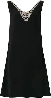 Prada embellished V-neck dress