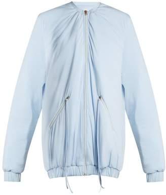 Charli Cohen - Bomber 2s Oversized Jersey Performance Jacket - Womens - Light Blue