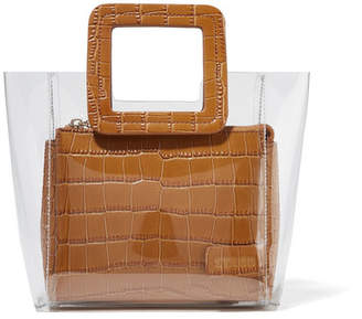 STAUD - Shirley Mini Croc-effect Leather And Pvc Tote - Tan