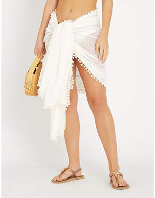 Melissa Odabash Pareo embroidered georgette sarong