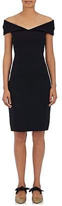 The Row Women's Shelmi Neoprene Off-The-Shoulder Dress - Black