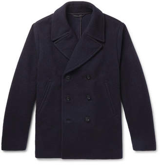 Mr P. Double-Breasted Virgin Wool And Cashmere-Blend Bouclé Peacoat