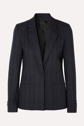 RtA Sasha Pinstriped Twill Blazer - Midnight blue