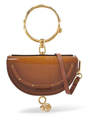 Chloé Nile Bracelet Mini Glossed-leather Shoulder Bag - Light brown