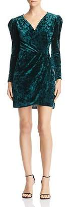 Aqua Velvet Faux-Wrap Dress - 100% Exclusive