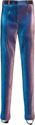 Roberto Cavalli Stirrup High-Rise Metallic Skinny Pants