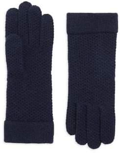 Portolano Honeycomb Knit Cashmere Gloves