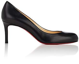 Christian Louboutin Women's Simple Leather Pumps - Black