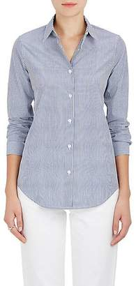 Barneys New York WOMEN'S STRIPED COTTON POPLIN BLOUSE