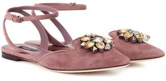 Dolce & Gabbana Bellucci embellished suede sandals