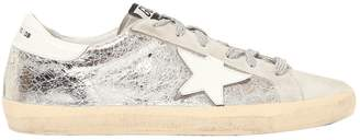 Golden Goose 20mm Super Star Crackle Leather Sneakers