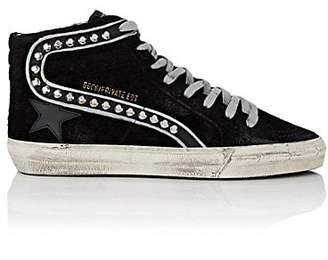 """Golden Goose Women's """"Slide"""" Suede Sneakers - Black"""