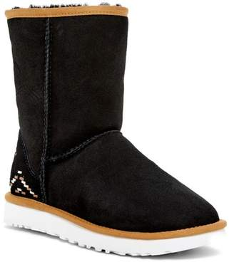 UGG Classic Suede Genuine Shearling & UGGpure(TM) Lined Short Rustic Weave Boot