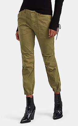 Nili Lotan Women's Cotton Twill Crop Pants - Sage