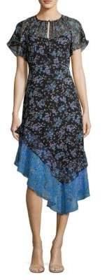 Nanette Lepore Desdemona Silk Asymmetric Dress