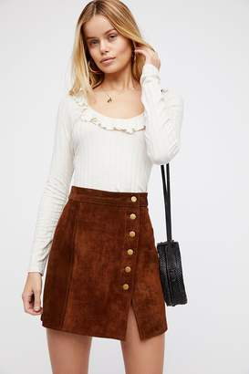 Understated Leather Understated Suede Mini Skirt