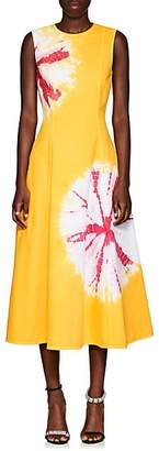 Calvin Klein Women's Tie-Dyed Denim Midi-Dress - Yellow