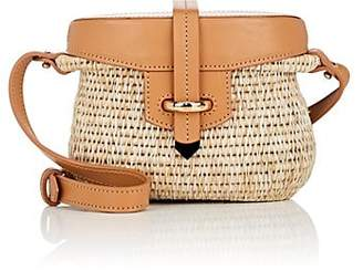 Khokho Women's Jabu Mini Straw & Leather Basket Bag - Brown