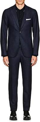 Isaia Men's Cortina Stretch-Wool Two-Button Suit - Blue
