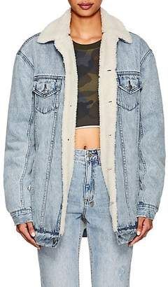Ksubi Women's Dame Denim Oversized Trucker Jacket - Md. Blue