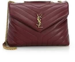 Saint Laurent Women's Medium Lou Lou Leather Shoulder Bag - Noir