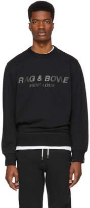Rag & Bone Black Upside Down Logo Sweatshirt