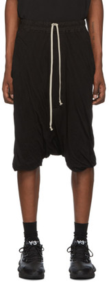 Rick Owens Black Pod Shorts