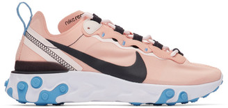 Nike Pink and Black React Element 55 Sneakers