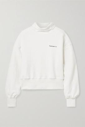 Twenty Montréal TWENTY Montreal - Sunnyside Printed Cotton-blend Terry Sweatshirt - Cream