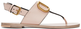 Valentino Pink Garavani VLogo Thong Sandals