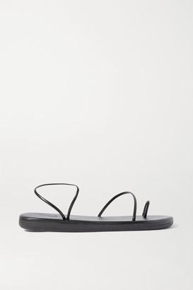 Ancient Greek Sandals Kansiz Faux Leather Sandals - Black