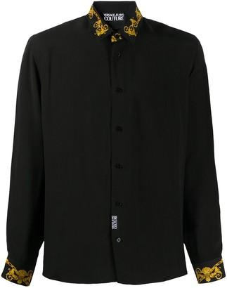 Versace long sleeve baroque-print shirt