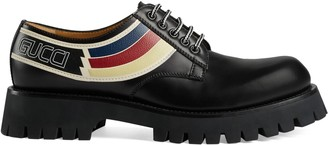 Gucci Leather lace-up with Sylvie Web