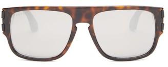 Gucci Rectangular Tortoiseshell-acetate Sunglasses - Mens - Silver
