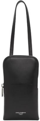 Dolce & Gabbana Black Smartphone Holder Pouch