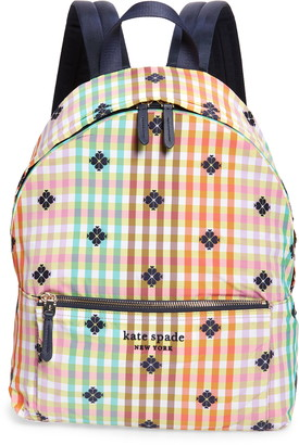 Kate Spade The Bella Plaid City Backpack