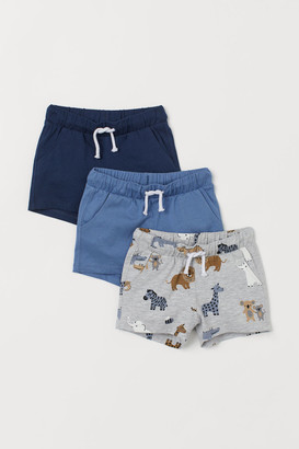H&M 3-pack Jersey Shorts - Blue