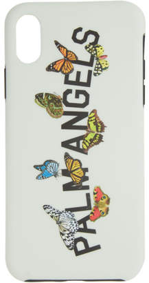 Palm Angels Grey Butterfly College iPhone XS Case