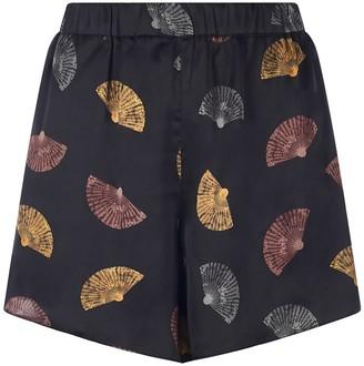 Coleman Louise Kanazawa Silk Shorts