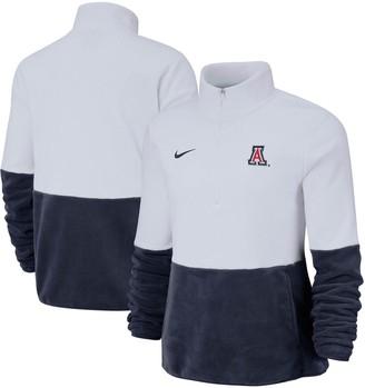Nike Women's White/Navy Arizona Wildcats Colorblock Performance Half-Zip Jacket