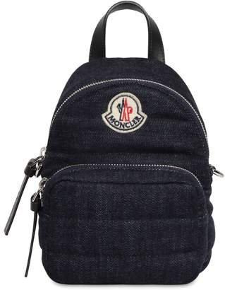 Moncler SMALL KILIA QUILTED DENIM BACKPACK