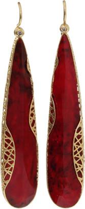Yossi Harari Ruby Slice Lace Earrings