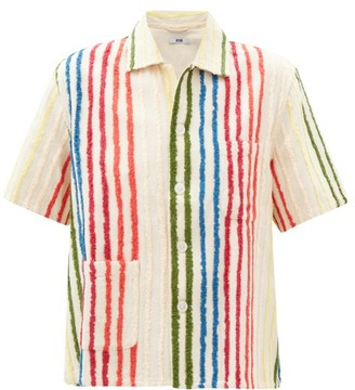 Bode Chenille-striped Silk-blend Shirt - Multi