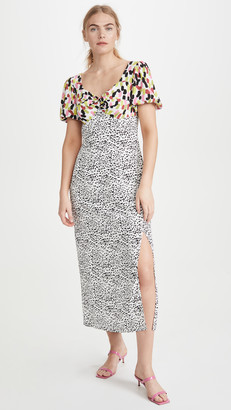 Glamorous Multi Abstract Spot Midi Dress