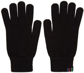 Paul Smith Black Wool Gloves