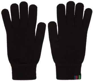 Paul Smith Black Wool Gloves