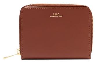 A.P.C. Emmanuelle Zip-around Leather Wallet - Tan