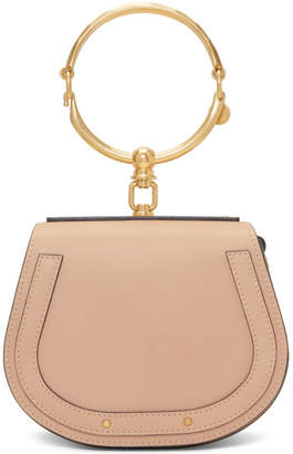 Chloé Beige Small Nile Bracelet Bag
